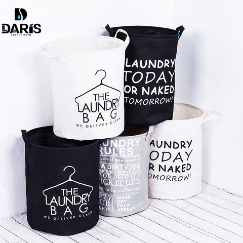 Laundry Basket Bag Dirty Pouch Folding Bracelet Laundry Bag