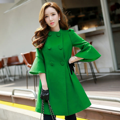 Double Breasted Outerwear Coats Elegant Vintage Trench