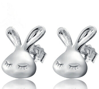 Cute Rabbit Stud Earrings Jewelry Lovely Animal Bunny
