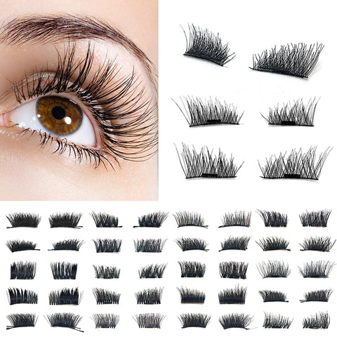 Ultra-thin 3D Magnetic EyeLashes Reusable  Extension Handmade No Glue