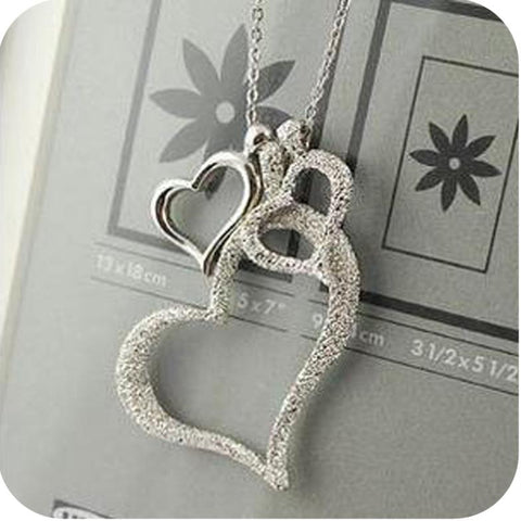 New korean network accessories scrub heart fashion necklace