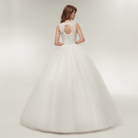 Fansmile Korean Lace Up Ball Gown Quality Wedding Dresses – I sell ... 008c66e9ff9f