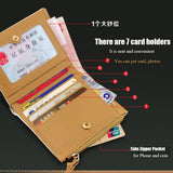 Long Design Wallet PU Leather Card Holder Wallets Coin Money