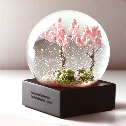 Four Season Crystal Ball Glass Water Snow Globe