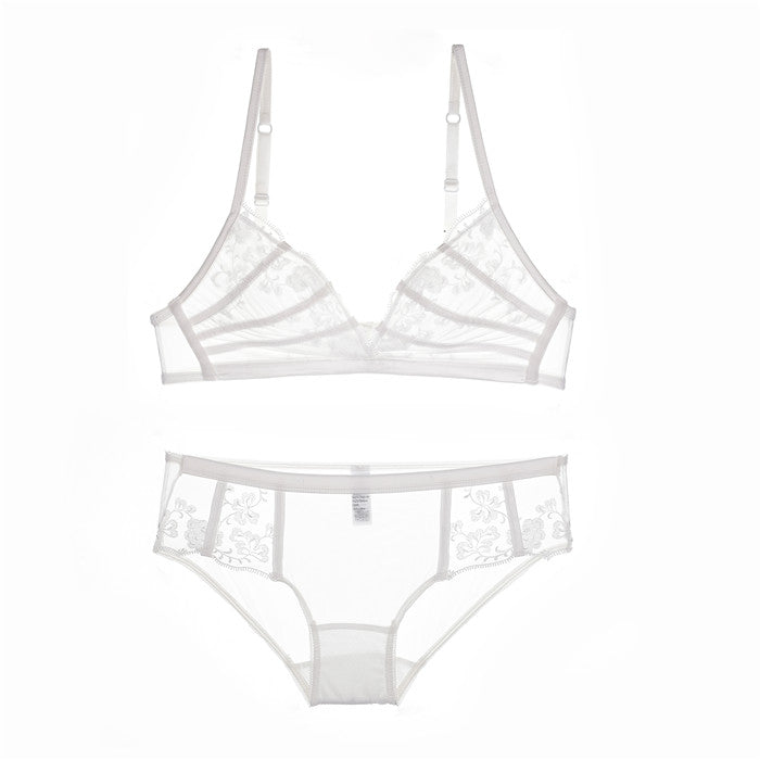 Underwear & Sleepwears Honest Wire Free Steel Ring Triangle Cup Underwear Ultra-thin Sexy Lace Side Bra Selling Well All Over The World Women's Intimates