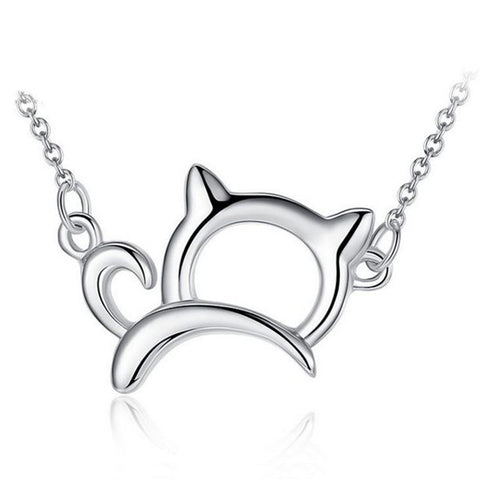 GAGAFEEL 925 Sterling Silver Cat 42cm Chain