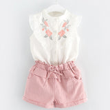 New Summer Style Beautiful Floral Flower Sleeve Children