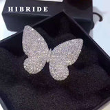Newest Beautiful Butterfly Engagement Rings Women White Gold