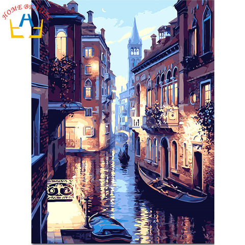 oil paint painting by numbers diy picture drawing coloring on canvas painting
