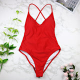 Swimwear Sexy high cut one piece swimsuit Backless swim suit