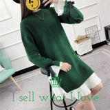<3 Sweater Korean Loose Winter Thick Dresses