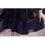 Korean Women Lace Dresses Slim Sexy party dress  high quality dress