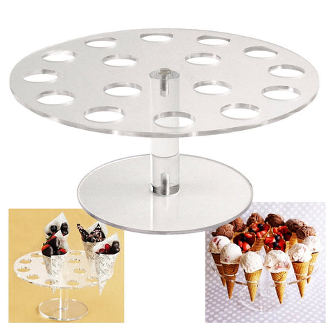 Ice Cream Cone Holder Cake Stand 16 Holds Weeding Party