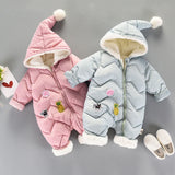 Knitted clothing with foot and hood baby clothes