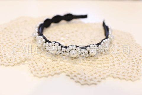 Korea  High Quality Hand Made Pearl flowers Retro Hair Accessories