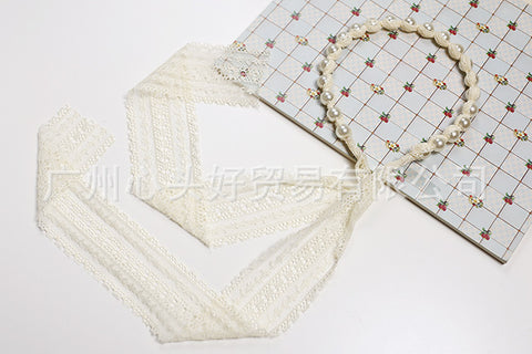 Korea Lace  Flower Pearl Head Band Hair