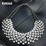 Trendy Crystal Statement Necklaces Pendants Women Jewelry