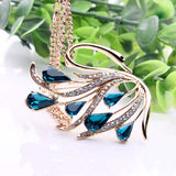Rose gold Color Silver Color Fashion Crystal Necklace Bohemia Swan Jewelry
