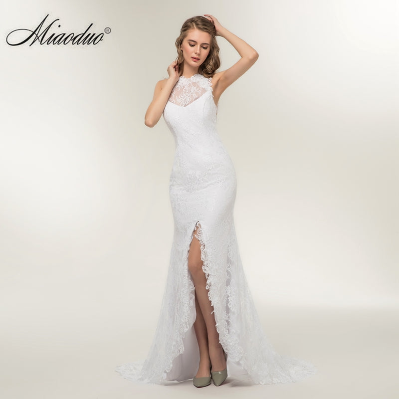 7a9b2992a1 Mermaid Simple Wedding Dress Beautiful Cheap Appliques Lace Backless ...