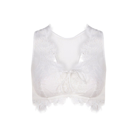 White Sexy Lace Bra Women Hollow Out Mesh Lady Breathable Soft