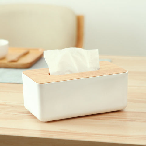 Wooden Cover Home Office Decoration Tissue Case Japanese Style Paper Rack Napkin Tissue Holder