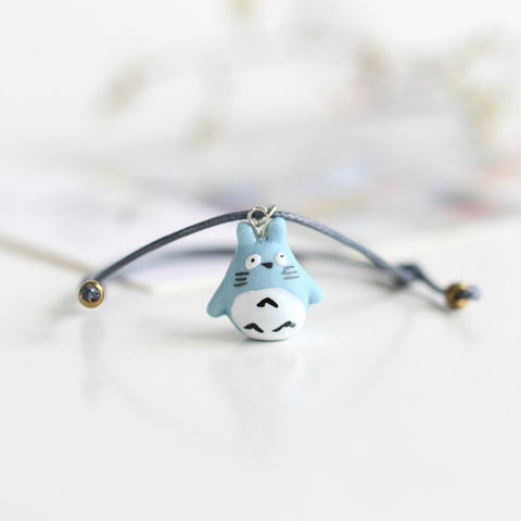 Hand-Woven Ceramic Beads Bracelet Cute Cartoon Totoro Animal