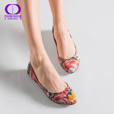 New Arrival Soft Leather Women Flat Heel Shoes Comfortable Leather