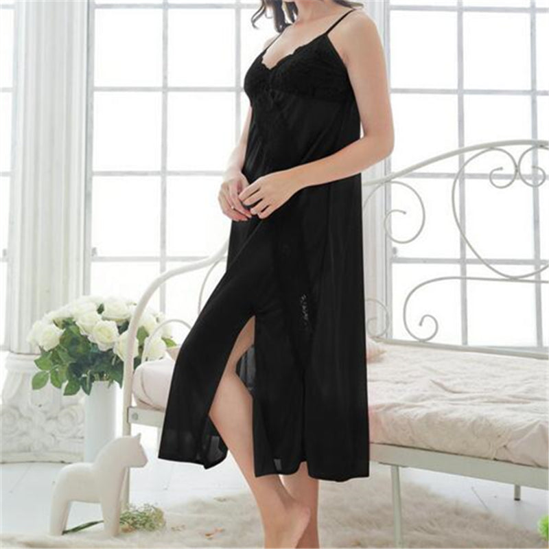 4b0d1684e Solid Nightgowns Dress Comfortable Sleep Shirts Sexy Nightwear – I ...