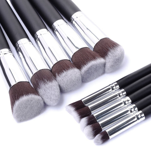 New Arrive 10 pcs Synthetic Kabuki Makeup Brush Set