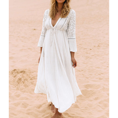 New Beach Cover up Dress Lace Beach