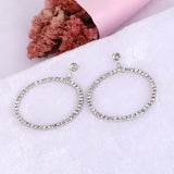 Hollow Heart Love Jewelry Crystal Earrings For Women Accessories