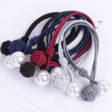 KoreanHair Accessories Ladies Elastic Hair Rubber Bands Luxury Pearl