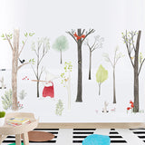 Northern Europe Cartoon Woodland Wall Stickers