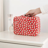 Portable cosmetic storage bag Printed toiletry travel organizer