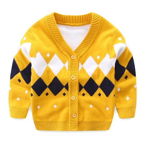 Sweaters Knitted Cotton Baby Cardigan Sweater