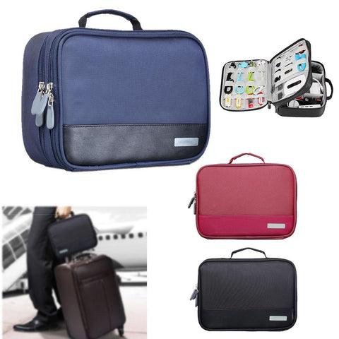 Gadget Devices Organizer USB Cable Charger Tote Case Storage Bag Travel Organizador