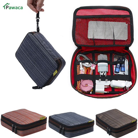 Portable Travel Waterproof USB Cable Storage Bag