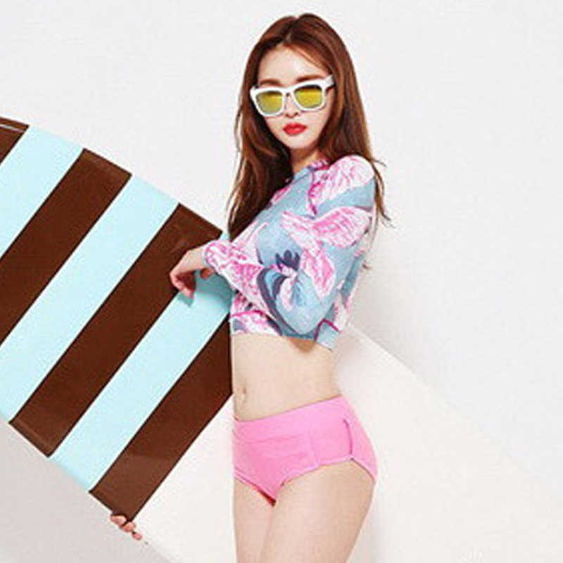3f11fac93c15 Printed Rash Guard Two Pieces Swimwear High Neck Swimsuit Tankini Surf – I  sell what I love