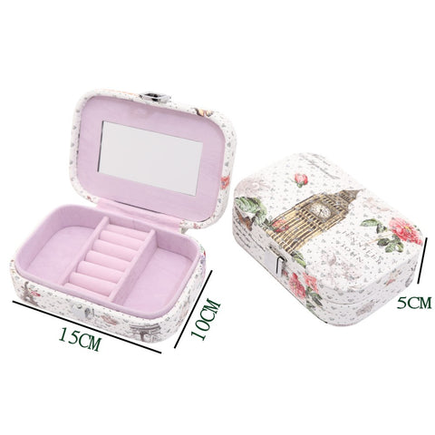 Women Jewelry Storage Box Earrings Necklace Storage Container Holder
