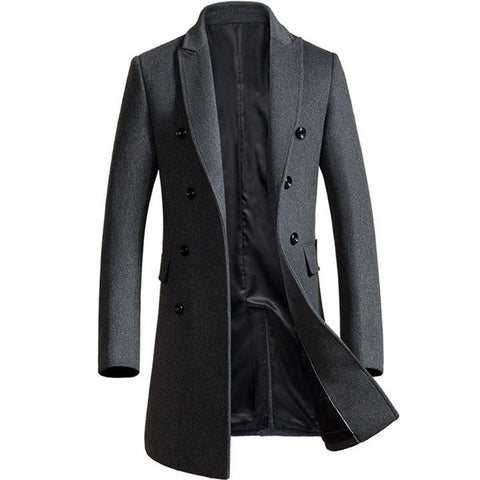 Luxury business casual men's slim jacket coat