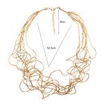 New Long Irregular Copper Tube Necklace Lobster Clasp For Women Accessories