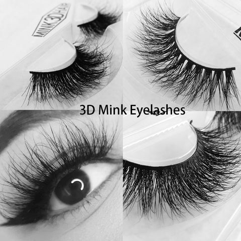 Sexy 100% Handmade Wholesale 3D mink eyelashes For Makeup Mink Individual Fake Eyelashes Extensions free shipping siberian mink
