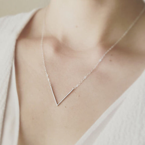 Simple V Necklace Dainty Jewelry Thin V Necklace