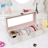 Transparent glass Watches and bracelets Box display jewelry box
