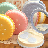 Travel Cute Cartoon Cookies Shape Contact Lens Case Box Holder