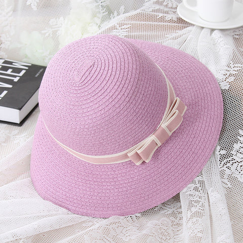 d7c64204 Sun hats female straw hat casual wide brim beach hat Cute(for mom & kids
