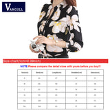VANGULL  New Style Lady White Shirts Formal Work Blouse Size  Korean Women Printed Shirts Chiffon Blouse Slim Fit Lady Shirts