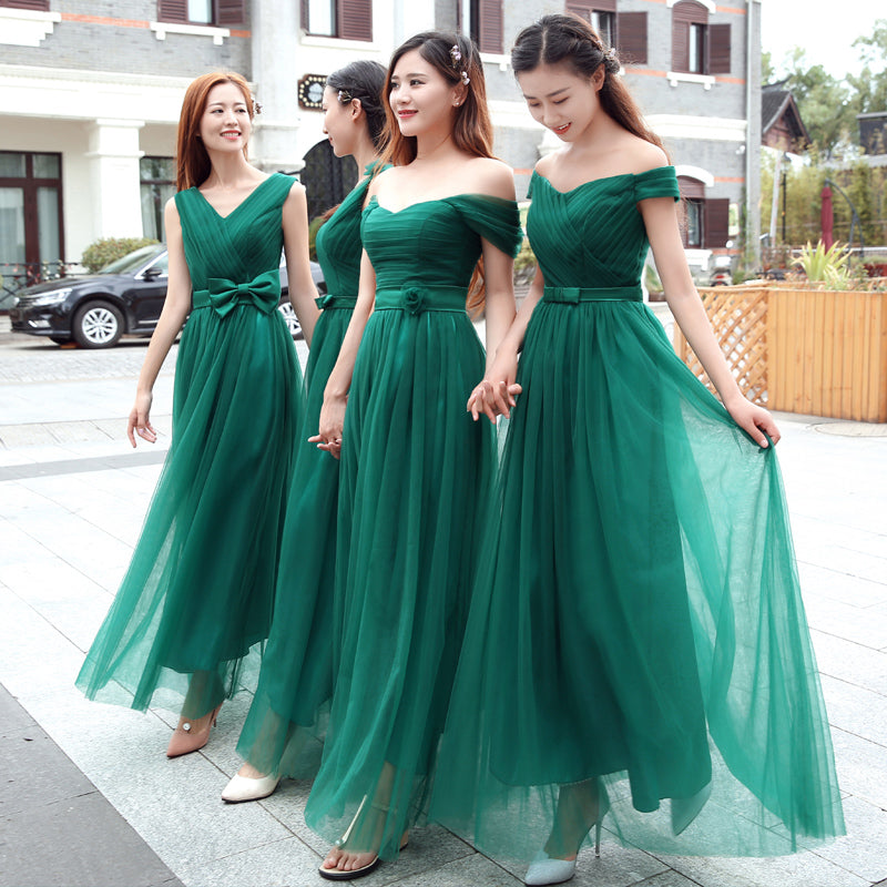 3425a36cef69 Emerald Green Bridesmaid Dresses Long Pleat Sweetheart Mixed Styles Ch – I  sell what I love