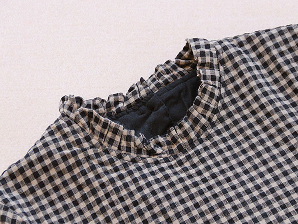 2377d92eef827 Vintage Black Plaid Woman Shirts Full Sleeve Cotton Linen Tops Blusas – I  sell what I love