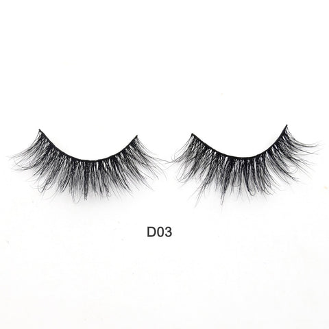 Eyelashes 3D Mink Lashes Luxury Hand Made Mink Eyelashes Medium Volume Cruelty Free Mink False Eyelashes Upper Lashes